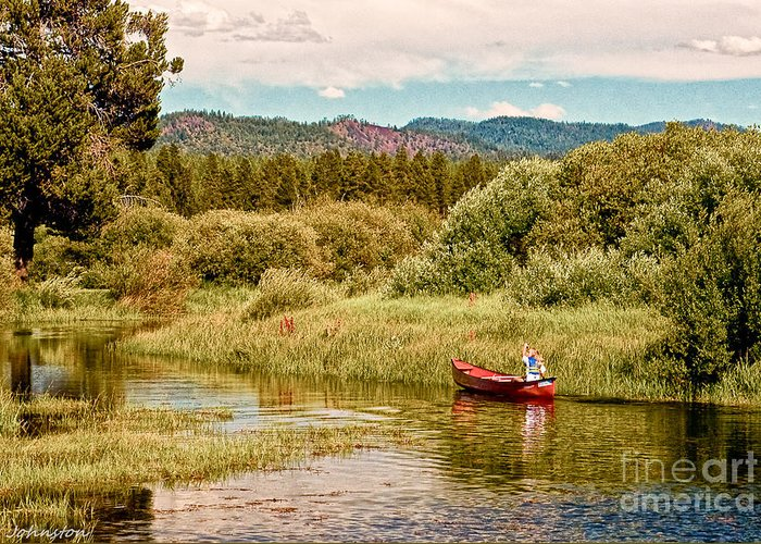 Digital Greeting Card featuring the digital art Bend/sunriver Thousand Trails by Bob and Nadine Johnston