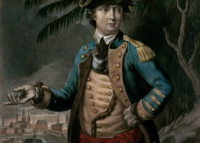 Col Greeting Card featuring the painting Benedict Arnold by English School