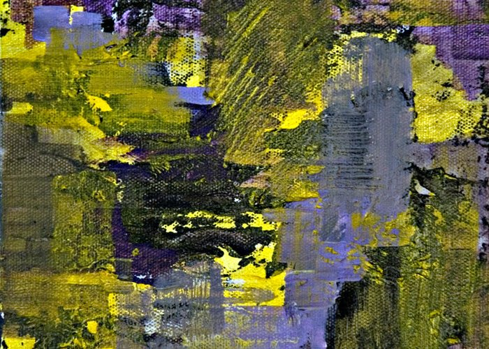 Abstract Greeting Card featuring the painting Beneficial Bees 2 Of 2 by Jacqueline Milner