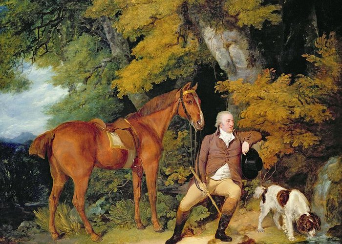 Springer Spaniel Greeting Card featuring the painting Benjamin Bond Hopkins, Before 1791 by Francis Wheatley