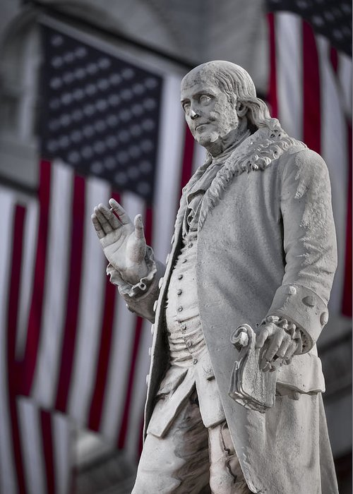 America Greeting Card featuring the photograph Benjamin Franklin by Eduard Moldoveanu