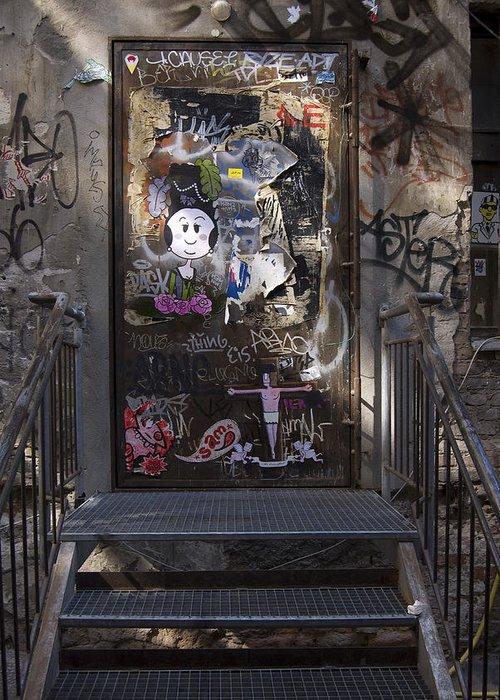Graffiti Greeting Card featuring the photograph Berlin Graffiti - 2 by RicardMN Photography