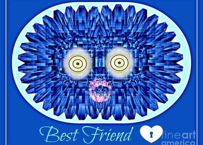 Friends Greeting Card featuring the digital art Best Friend by Meiers Daniel