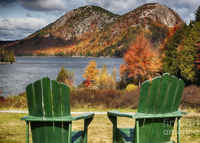 Acadai. Acadia National Park Greeting Card featuring the photograph Best Seats In Acadia by George Oze