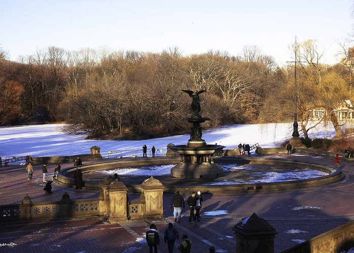 Bethesda Fountain Greeting Card featuring the photograph Bethesda Fountain 2013 - Central Park - Nyc by Madeline Ellis