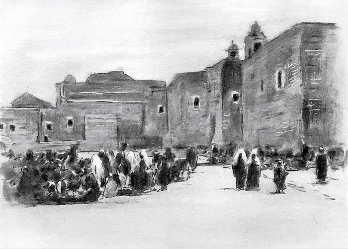 Bethlehem Greeting Card featuring the photograph Bethlehem Painting 1928 by Munir Alawi