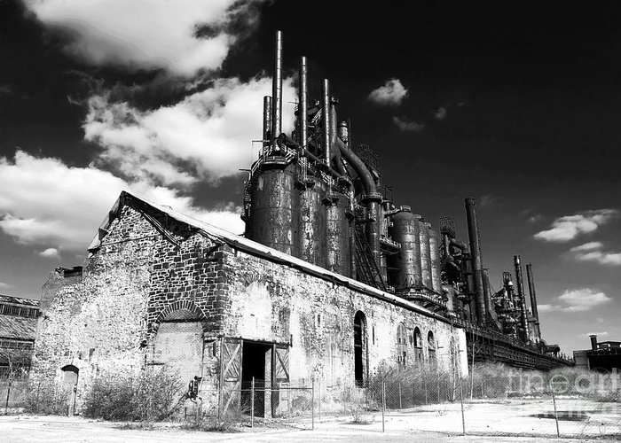 Bethlehem Steel Greeting Card featuring the photograph Bethlehem Steel by John Rizzuto
