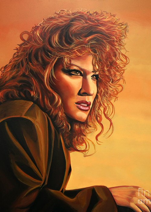 Bette Midler Greeting Card featuring the painting Bette Midler by Paul Meijering
