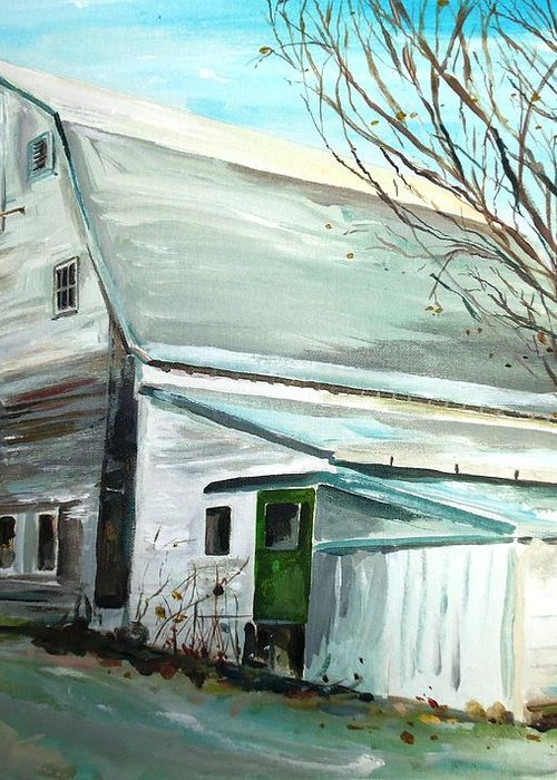 Millbury Ma Greeting Card featuring the painting Better Days by Scott Nelson