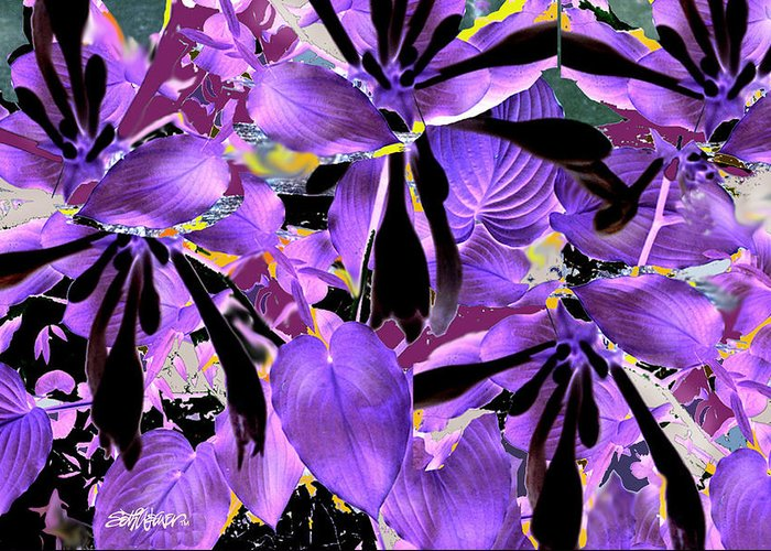 Beware The Midnight Garden Greeting Card featuring the digital art Beware The Midnight Garden by Seth Weaver