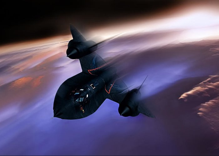 Sr-71 Greeting Card featuring the digital art Beyond Mach 3 by Peter Chilelli