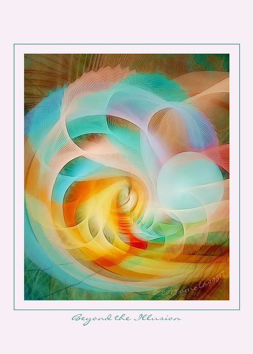 Fractal Greeting Card featuring the digital art Beyond The Illusion by Gayle Odsather