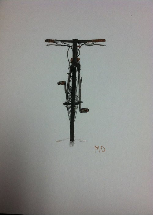Bicycle Greeting Card featuring the painting Bicycle by Margaret Donohue