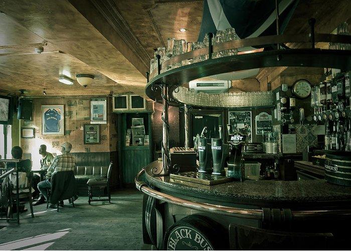 Pub Greeting Card featuring the photograph Biddy Mulligans Pub. Edinburgh. Scotland by Jenny Rainbow