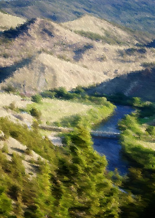 Landscape Greeting Card featuring the photograph Big Hole River Divide Mt by Kevin Bone