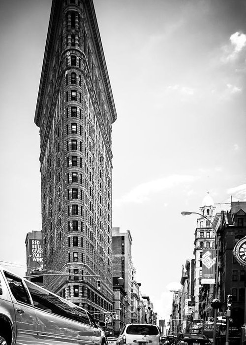 Nyc Greeting Card featuring the photograph Big In The Big Apple - Bw by Hannes Cmarits