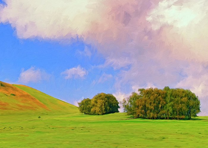 Big Island Ranch Greeting Card featuring the painting Big Island Ranch by Dominic Piperata