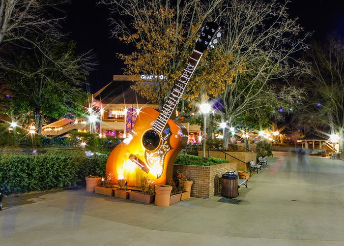 Guitar Greeting Card featuring the photograph Ghosts Of Opry Legends by Robert Hebert