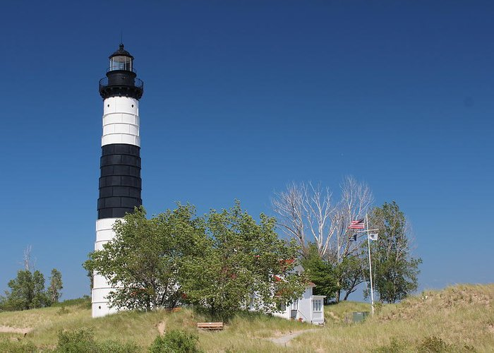 Big Sable Point Lighthouse Greeting Card featuring the photograph Big Sable Point Lighthouse by Sean M