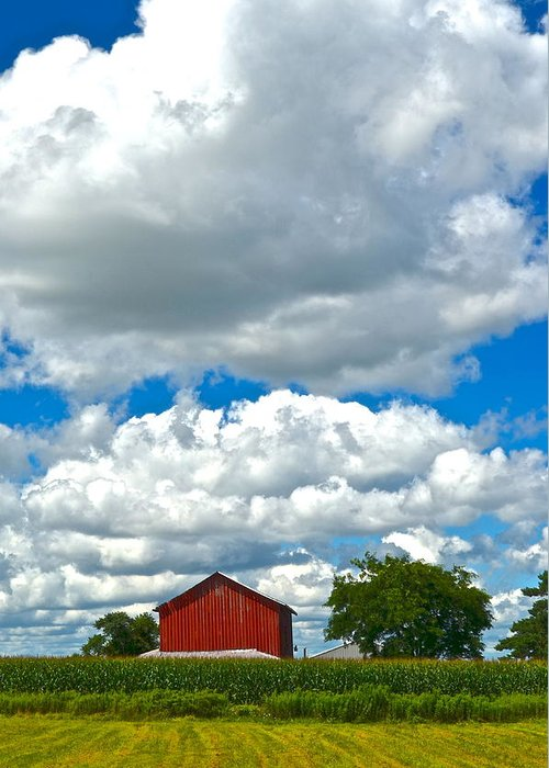 Farm Greeting Card featuring the photograph Big Sky by Frozen in Time Fine Art Photography