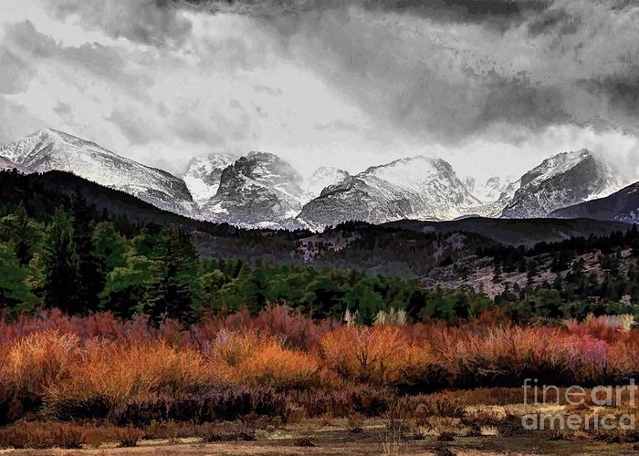 Rocky Mountain National Park Greeting Card featuring the photograph Big Storm by Jon Burch Photography