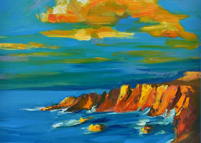 Fine Of Big Sur Gallery Paintings Greeting Cards