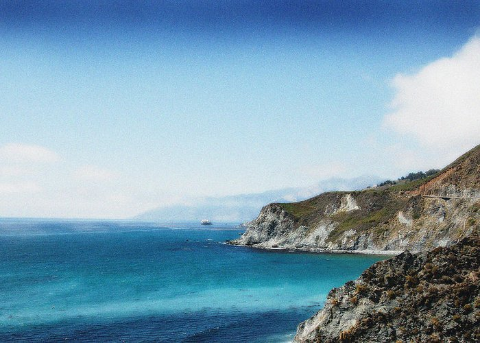 Big Sur Greeting Card featuring the photograph Big Sur Blue by Ari Jacobs