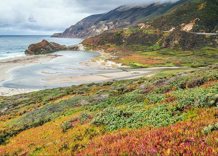 Big Sur Greeting Card featuring the photograph Big Sur California In Autumn by Pierre Leclerc Photography
