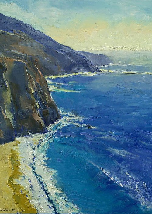 Big Sur Greeting Card featuring the painting Big Sur California by Michael Creese