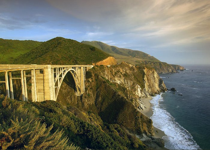 Bixby Bridge Greeting Card featuring the photograph Big Sur by Christian Heeb