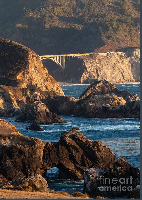 Soberanes Greeting Card featuring the photograph Big Sur Coastal Serenity by Mike Reid