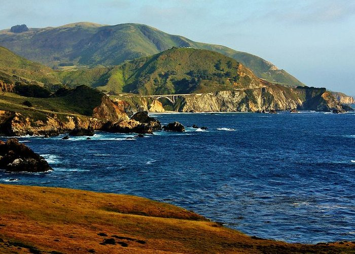 Big Sur Greeting Card featuring the photograph Big Sur Coastline by Benjamin Yeager