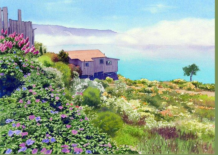 Big Sur California Paintings Greeting Cards