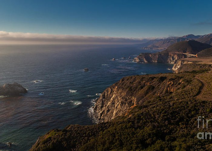 Soberanes Greeting Card featuring the photograph Big Sur Headlands by Mike Reid
