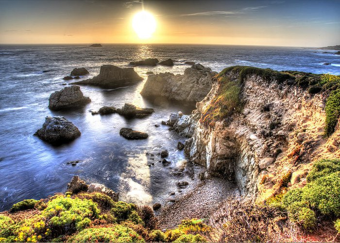 Big Sur Greeting Card featuring the photograph Big Sur Sunset by Shawn Everhart