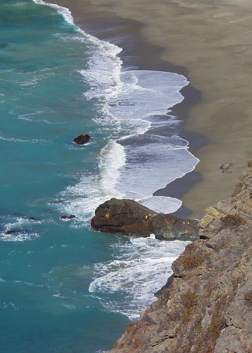 Big Sur Greeting Card featuring the photograph Big Sur Surf by Art Block Collections