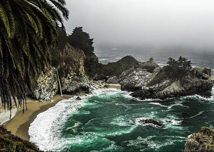 Big Sur Greeting Card featuring the photograph Big Sur's Emerald Oaza by Eduard Moldoveanu