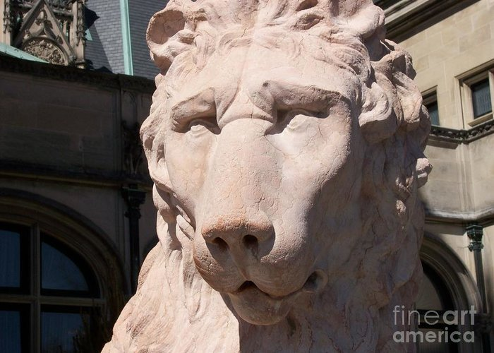 Statue Greeting Card featuring the photograph Biltmore Lion by Gayle Melges