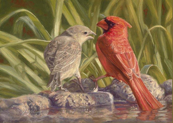 Birdbath Greeting Cards