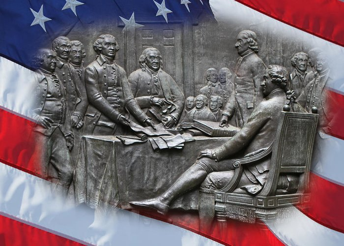 Boston Greeting Card featuring the photograph Birth Of Independence by Dave Stegmeir