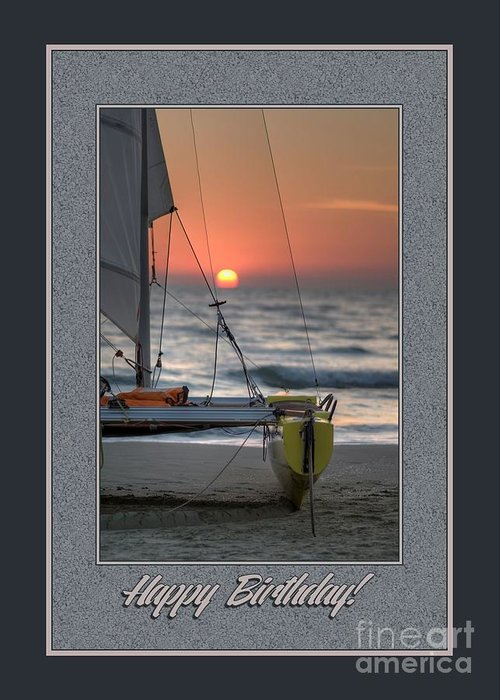 Jh Greeting Card featuring the digital art Birthday Sailboat by JH Designs