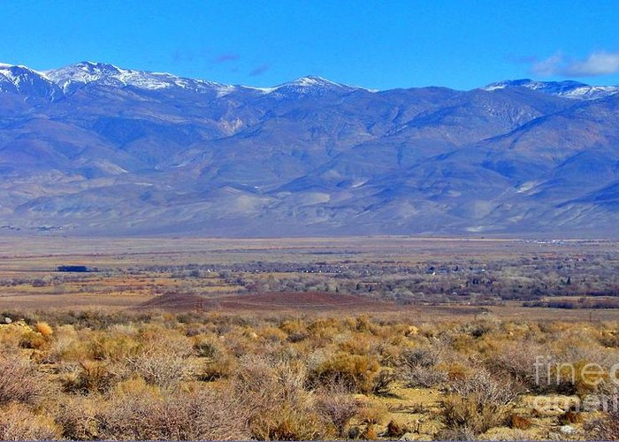 Sky Greeting Card featuring the photograph Bishop California by Marilyn Diaz