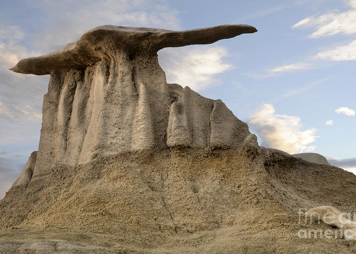 Textures Greeting Card featuring the photograph Bisti De-na-zin Wing by Vivian Christopher