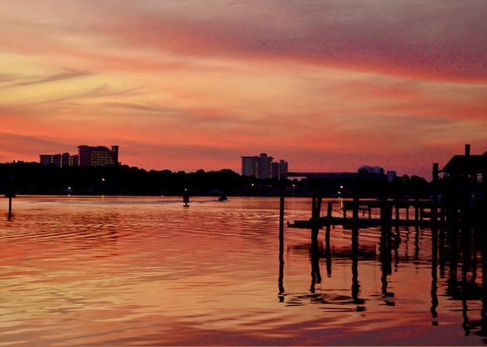 Sunset Greeting Card featuring the photograph Bittersweet by Elbe Photography