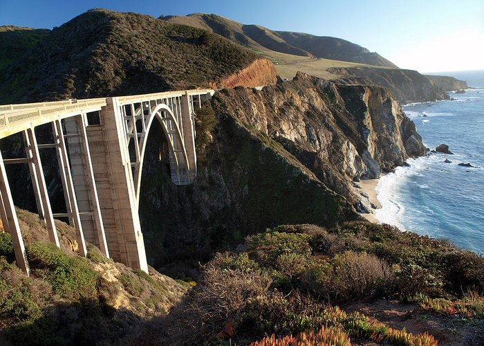 Bixby Bridge Greeting Card featuring the photograph Bixby Bridge Afternoon by Joe Schofield