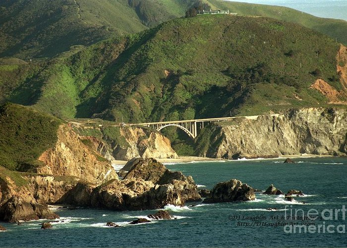 Bixby Greeting Card featuring the photograph Bixby Bridge by DJ Laughlin