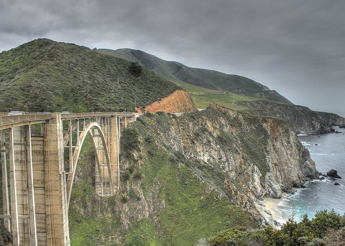 Bixby Bridge Greeting Card featuring the photograph Bixby Bridge by Jane Linders