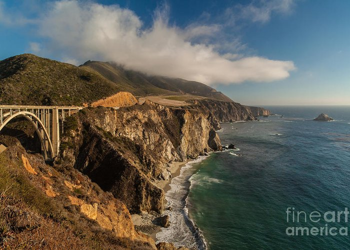 Soberanes Greeting Card featuring the photograph Bixby Coastal Drive by Mike Reid
