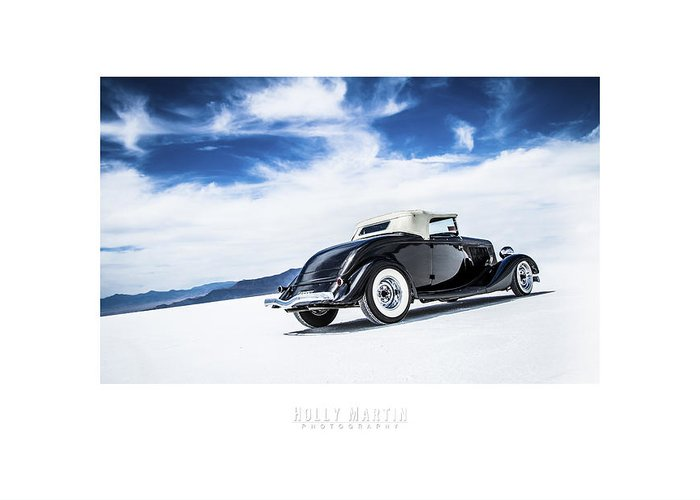 Antique Automobile Greeting Card featuring the photograph Black And Blue by Holly Martin