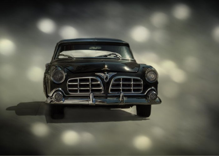 Car Greeting Card featuring the photograph Black Beauty by Mario Celzner